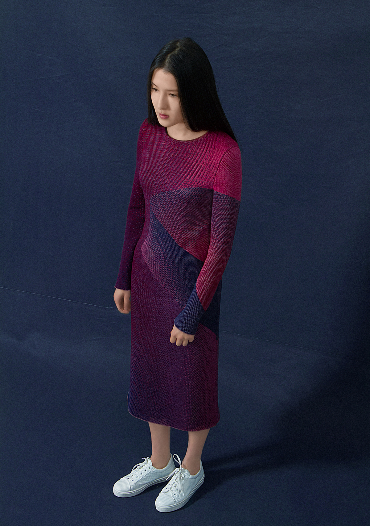 Shoot knitted apparel 01 dress shape