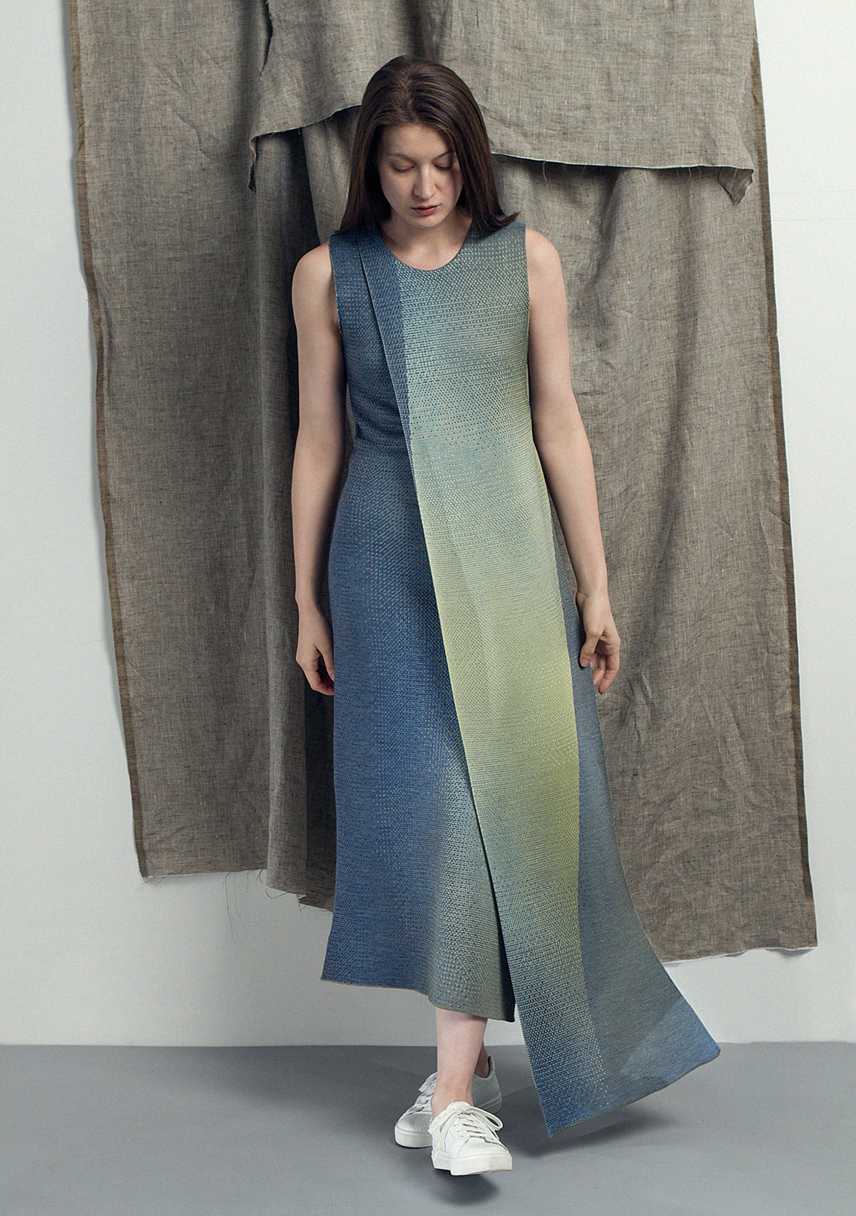 Shoot knitted apparel 01 layered dress