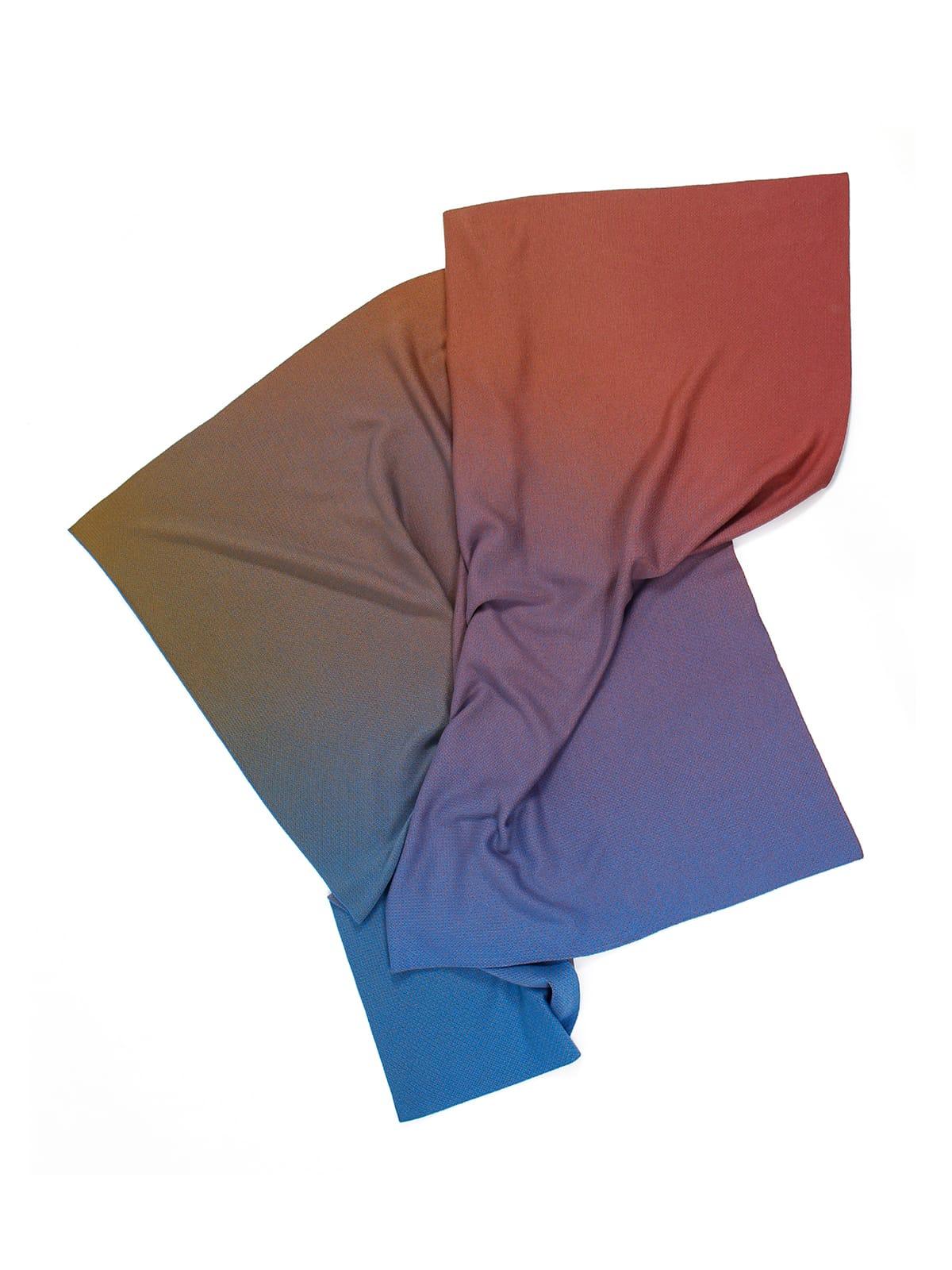 Knitted Blanket Lucca - Merino Wool drapiert