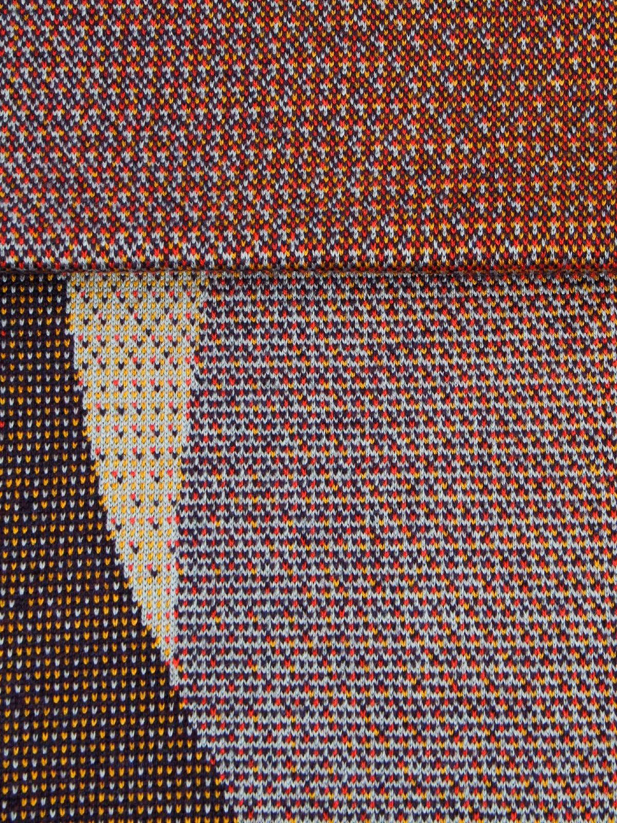 Knitted Blanket Musselshell - Merino Wool details