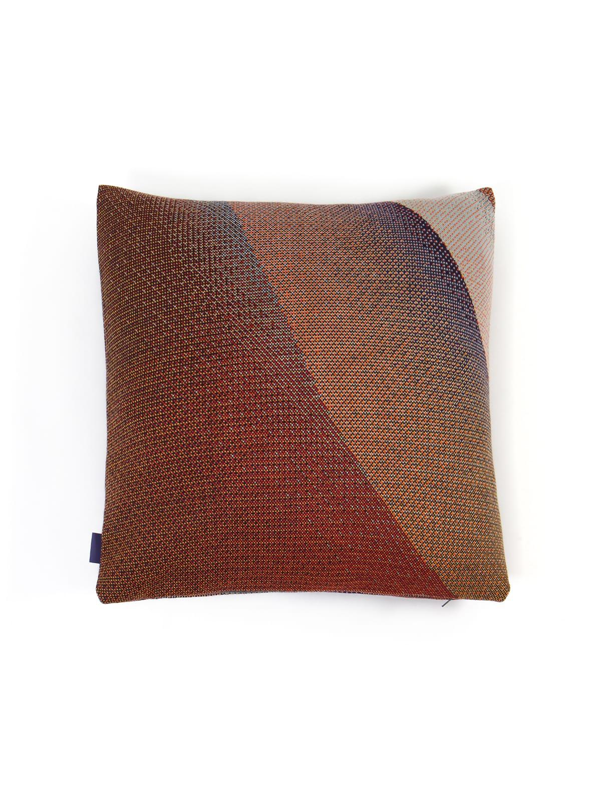 Knitted Cushion 50x50 Musselshell No1 - Merino Wool hinten