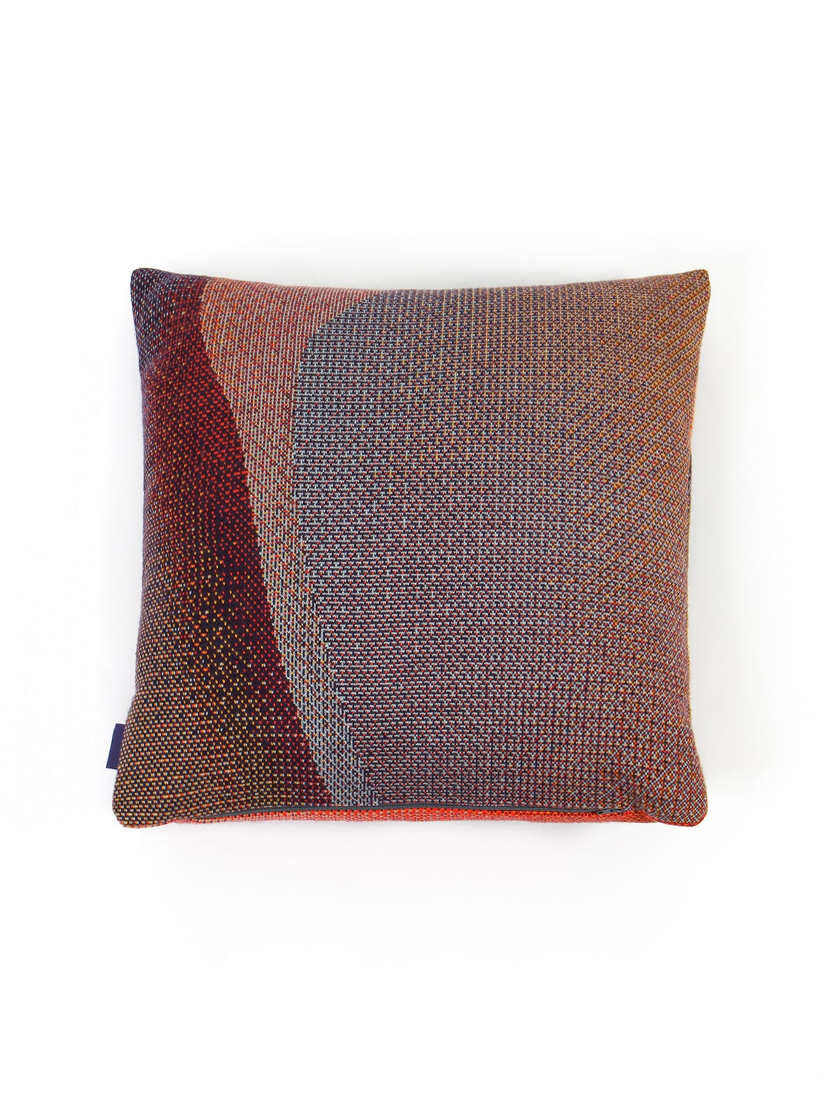 Knitted Cushion 50x50 Musselshell No2 - Merino Wool hinten