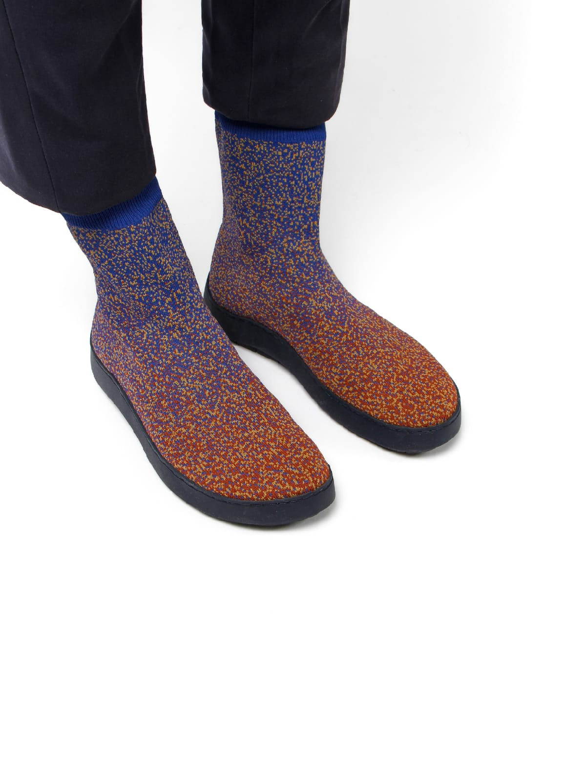 3D knitted sockboot Sparkle foxy schräg K