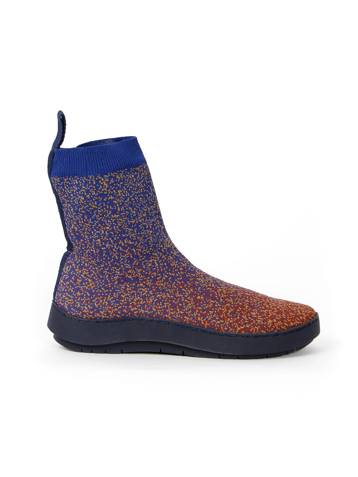 3D knitted sockboot Sparkle foxy rechts