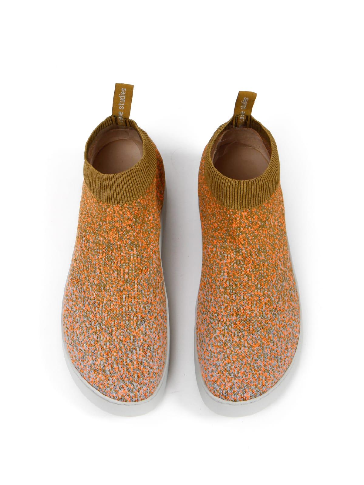 3D knitted sockboot Spexx papaya oben
