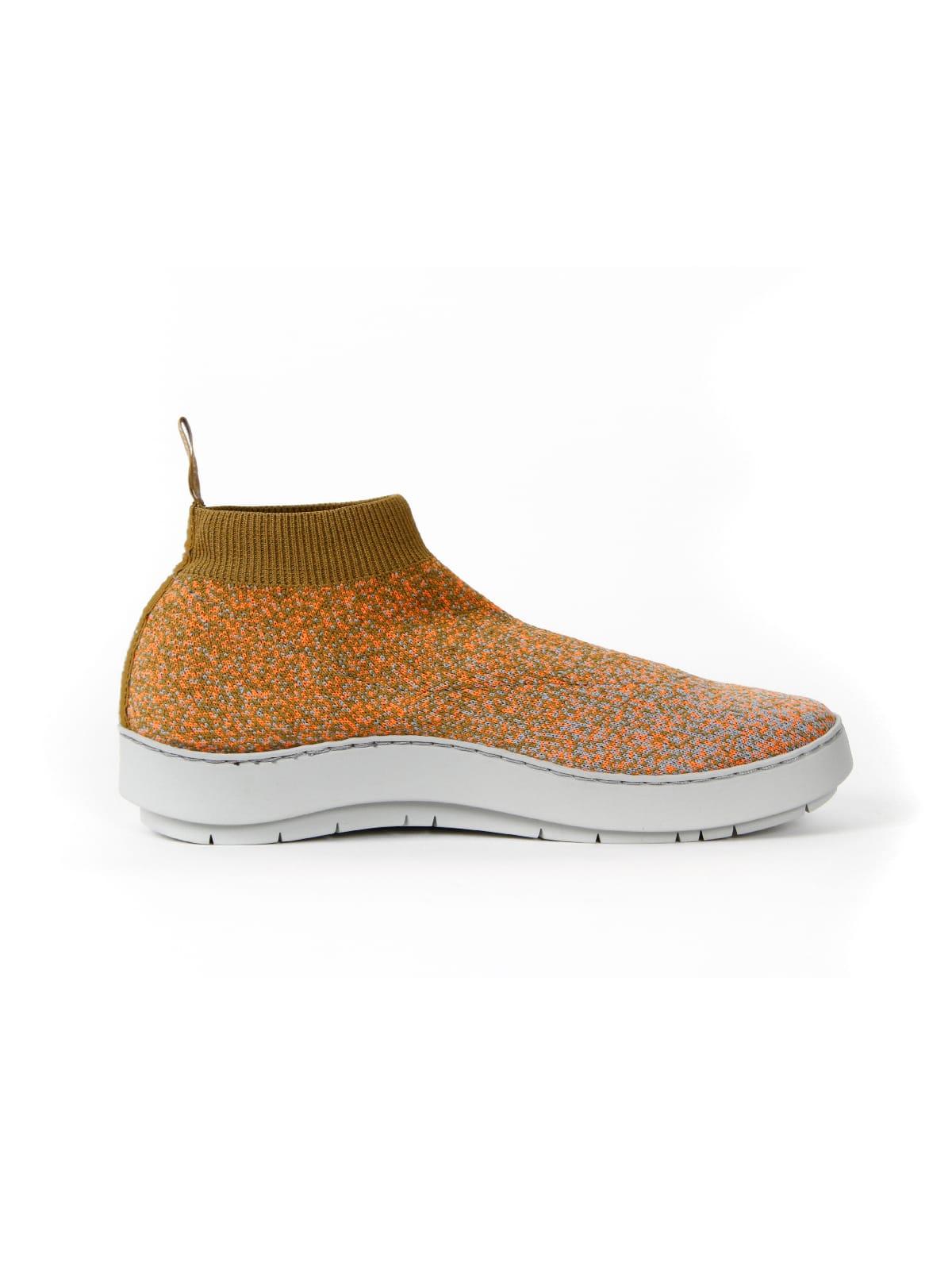 3D knitted sockboot Spexx papaya rechts
