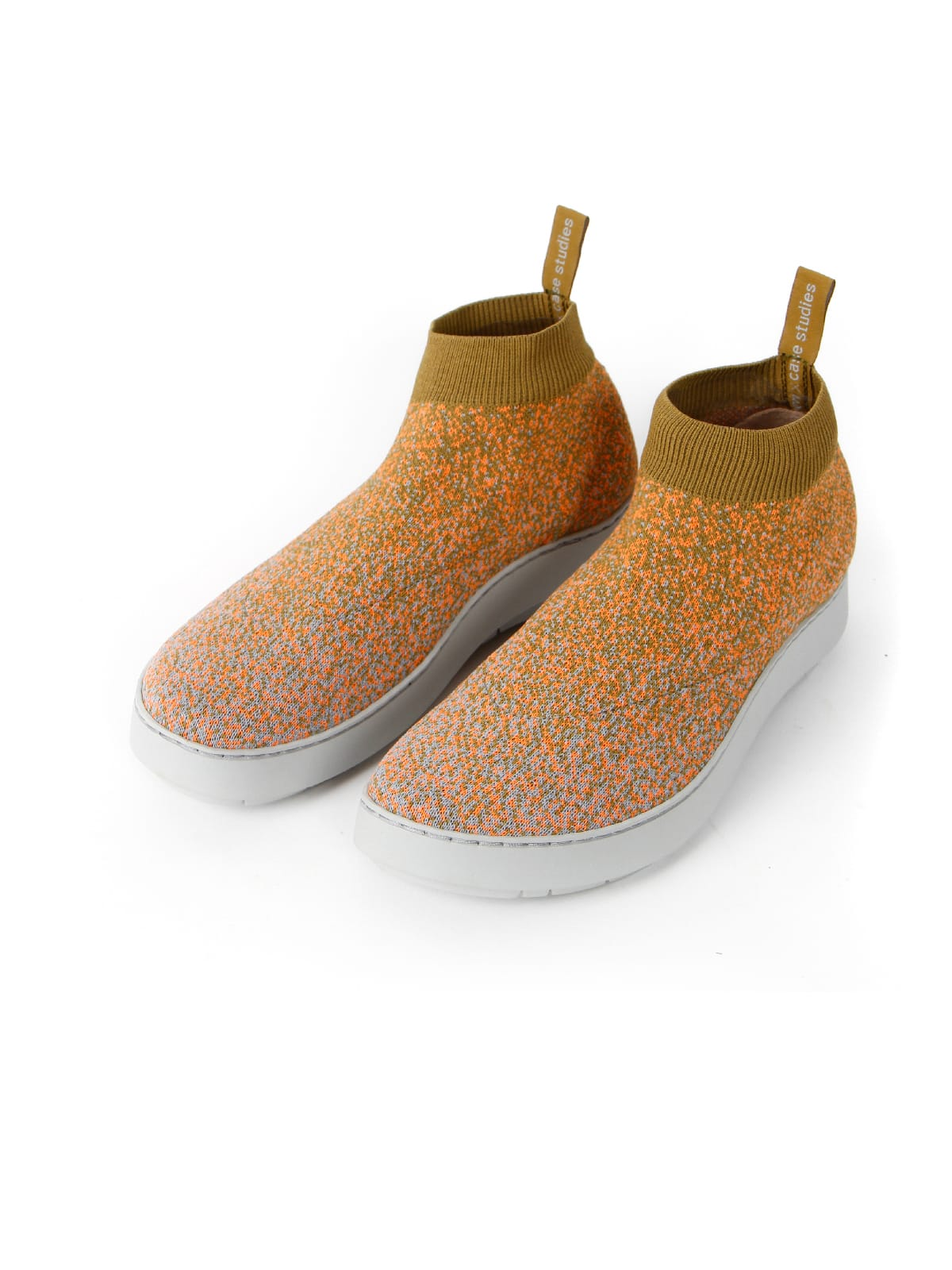 3D knitted sockboot Spexx papaya schräg