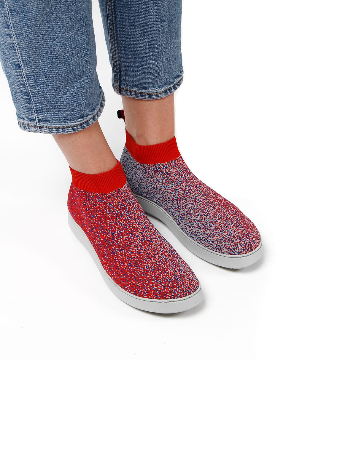 3D knitted sockboot Spexx poppy schräg
