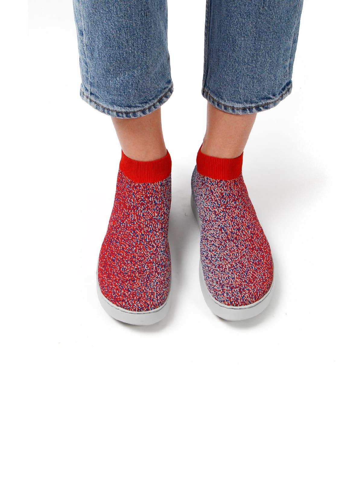 3D knitted sockboot Spexx poppy vorne K